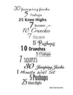 Realistic do at home exercise chart for moms {Free Printable}
