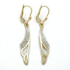 LEVERBACK EARRINGS 9K GOLD,NEW #jewelry #jewellery #gold #k gold #earrings