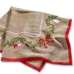 Materialesæt til et flot broderet juletræstæppe - (uden nisser!)
