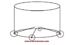 Wire lampshade frames craft frameswalls diy wire lampshade frame coat hanger and greentooth Images