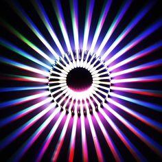 Dẫn đèn tường Hiện Đại Hướng Dương 3 Wát Vật Liệu Nhôm trong nhà ánh sáng AC85-265V Home Bar KTV Phòng Khách Hành Lang trang trí nội thất VR
