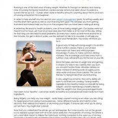 Wholistic Wellness: Losing Weight and Keeping It Off Running is one of the best ways of losing weight. Whether it's through an aerobics kick boxing cla. http://slidehot.com/resources/wholistic-wellness-losing-weight-and-keeping-it-off.59275/
