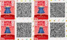 Yuki on - Animal Crossing - Animals Animal Crossing 3ds, Animal Crossing Qr Codes Clothes, Acnl Qr Codes Dresses, Acnl Paths, Motif Acnl, Salopette Jeans, Ac New Leaf, Motifs Animal, Animal Games