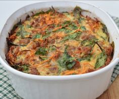 Paleo Sausage and Sweet Potato Breakfast Casserole (can feed a large and hungry Thanksgiving crowd!)