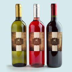 Glück gefunden - rustikale Flaschenaufkleber für Wein, Wasser & Co