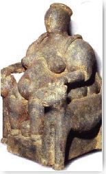 Figure de déesse provenant de Çatal Hüyük