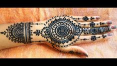 New Easy Creation of Mandala Mehndi Heena Design with full cover Space for Beginners Request to all, Please like s. Henna Mehndi, Hand Henna, Heena Design, Hand Tattoos, Mandala, Artist, Artists, Mandalas