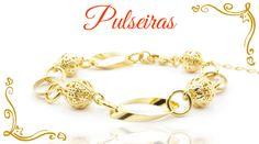 Pulseiras folheadas a ouro com garantia. www.cassie.com.br