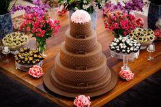 Bolo lindo de Ivana Calumby = Chocolate + Rosa