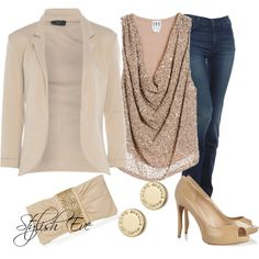 """Beige Party"" by stylisheve on Polyvore"