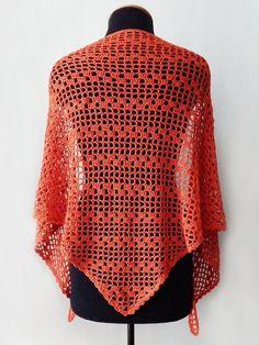 Вязаный крючком хлопок оранжевый шаль имбирный шаль терракотовый шаль   Etsy Knitted Shawls, Crochet Shawl, Crochet Top, Coral Scarf, Lace Scarf, Pink Scarves, Summer Scarves, Red Shawl, Summer Wraps