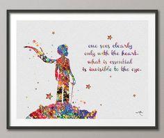 Der kleine Prinz zitieren Le Petit Prince inspirierende Aquarell Kunstdruck Wall Decor Art Home Hochzeit Geschenk Wand hängen keine 231
