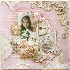 Gabrielle Pollacco as Such a Pretty Mess for Maja Designs using the Sofiero collection plus a bloom tutorial; July 2013