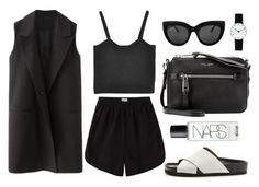 """the usual"" by kristyyw ❤ liked on Polyvore featuring Base Range, Sam Edelman, Marc Jacobs, NARS Cosmetics and Rosendahl"
