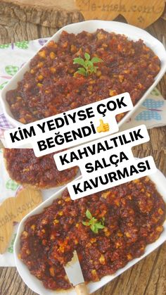 Turkish Breakfast, Breakfast Time, Roasted Eggplant Dip, Good Food, Yummy Food, Delicious Recipes, Pasta, Turkish Recipes, Food And Drink