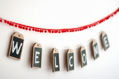 UKKONOOA: Eco-friendly chalkboard tags / labels / ornaments