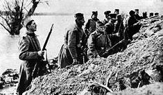 Serbian Soldiers on the island of Ada Ciganlija in Belgrade 1914