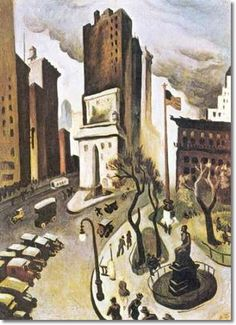 """New York, Early Thomas Hart Benton, American painter American Realism, American Artists, Thomas Hart Benton Paintings, Art Thomas, Park In New York, Muse Art, 1920s Art, Portraits, Art Prints For Sale"