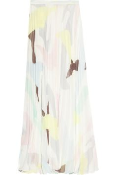 Alice + Olivia|Shannon pleated georgette maxi skirt|NET-A-PORTER.COM    Crazy out of control expensive....would never pay that much....but I like it  :)