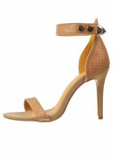 Dree Snakeskin Sandals Camel at Prima donna