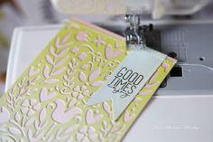 Summer Folk Art Cards, Sizzix Guest Designer of the Month. Sizzix Thinlits Die Set - Folk Art Stencil and Sizzix Bigz Die - Folk Bird. Banner, Folk Art, Designer, Blog, Summer, Cards, Blush Pink, Good Day, Advertising