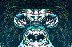 Gorilla. by Bryan Gallardo BS13, via Behance
