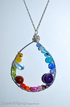 DIY: Wire beaded drop necklace