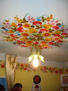 1386339843_dscn0579.jpg (Изображение JPEG, 768×1024 пикселов) - Масштабированное (58%) Inside Art, Ceiling Murals, Dream Mansion, House Painting, Fabric Painting, Decorative Panels, Kalocsai, Hand Painted Furniture, Mural Art