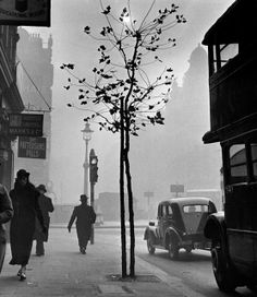 Charing Cross Road, London, 1937 I was pointing my camera toward . Years later I discovered that I had been outside No 84 Charing Cross Road. One can just make out the name of the shop, . Vintage Photography, Street Photography, Art Photography, Photography Exhibition, Vintage London, Old London, London Rain, London Pride, London View