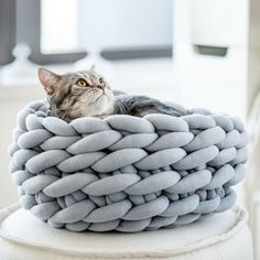 We create chunky blankets, furniture for pets and knitwear with highest quality wool and unique vegan material — Ohhio Braid, which we designed by ourselves