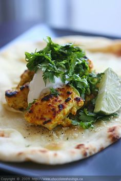 Yogurt Spiced Chicken w Cilantro & Lime