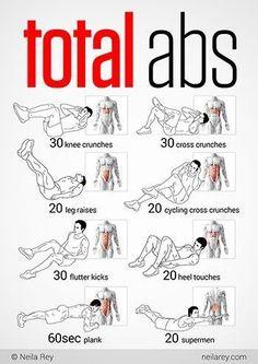 Rutina de ejercicios  ☺  ☺