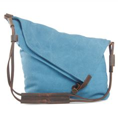 Classic Crossbody Messenger Bag With Cow Leather Strap