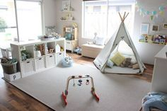 There are lots of playroom ideas you could have for your kids' playroom. When it regards playroom seating, the chances are endless. It is simpler to maintain a playroom organized that is broken up into play areas, or sections. Baby Play Areas, Kids Play Area, Playroom Design, Playroom Decor, Playroom Layout, Playroom Organization, Boy Decor, Baby Playroom, Baby Room