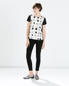 MIXED FABRIC TOP-Shirts-Woman-COLLECTION SS15 | ZARA United States