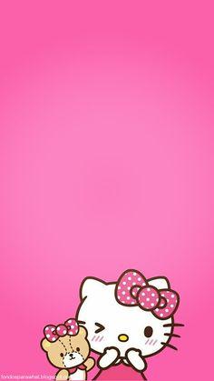 Sanrio Hello Kitty, Hello Kitty Themes, Hello Kitty My Melody, Pink Hello Kitty, Iphone Wallpaper Kawaii, Hello Kitty Iphone Wallpaper, Hello Kitty Backgrounds, Hello Kitty Pictures, Kitty Images