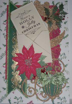 Anna Griffin Christmas paper 2014 and Cricut Winter Wonderland cartridge. Lace embossing Cuttlebug folder