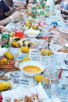 69 Ideas Wedding Food Ideas Seafood Crab Boil For 2019 Shrimp Boil Party, Crab Party, Seafood Party, Crawfish Party, Seafood Broil, Crab Broil, Seafood Bake, Lobster Boil, Lobster Bake Party