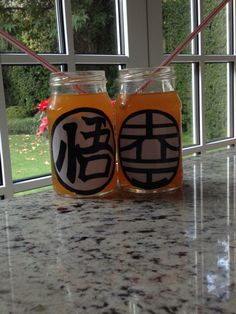 Dragon ball mason jars