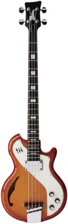 Italia Guitars Mondial Deluxe Bass Honey Sunburst