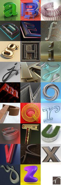 Letter Works, A–Z by Scott Wulf, via Behance