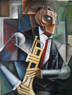Cubism for Jazz: Martel Chapman's Paintings Trumpet Music, Jazz Poster, Jazz Artists, Ink Pen Drawings, Modern Art Deco, Art Deco Fashion, Art Music, Illustration Art, Illustrations