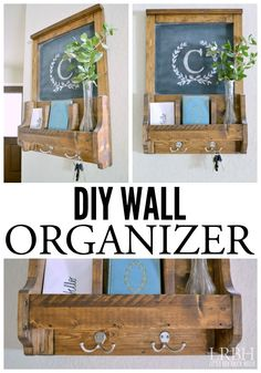 Corral the keys, mail and other clutter with this easy DIY Wall Organizer project.