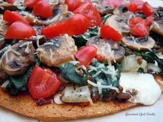 Gourmet Girl Cooks: Friday Night Pizza (w/ Almond-Flax-Parmesan Herb Pizza Crust)