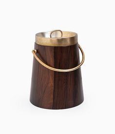 Anonymous; Rosewood and Brass Ice Bucket, 1960s. Via Studio Schalling.