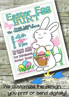 EASTER EGG HUNT Festival Flyer Event Poster or by DitDitDigital