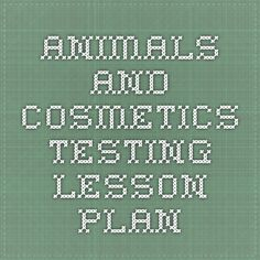 Animals and Cosmetics Testing   Lesson Plan