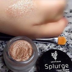 """So Rich & Creamy! Love Younique's """"Elegant"""" Splurge Cream Eye Shadow That Was Just Recently Released! A Small Amount Gives You Fabulous Coverage With A Beautiful Shimmer! Contact Me For More Information! by going to my profile :)"""