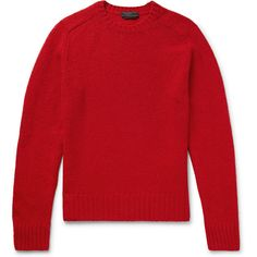 Prada Wool Sweater ($550) ❤ liked on Polyvore featuring men's fashion, men's clothing, men's sweaters, prada mens sweater, mens woolen sweaters and mens wool sweaters