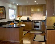 Peninsula Kitchen Layout peninsula kitchen layout makes a handy breakfast bar.even though a